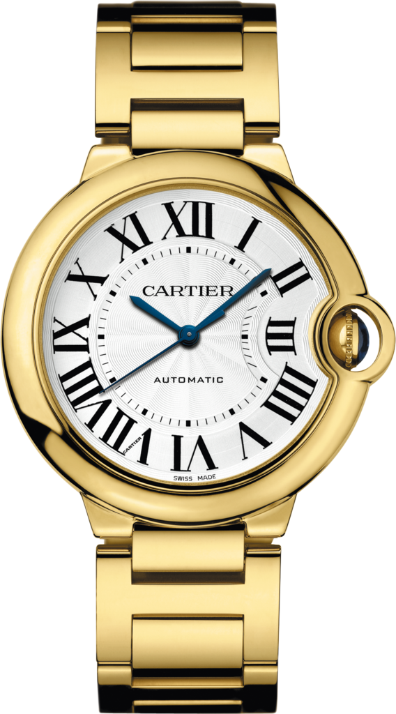 Ballon Bleu de Cartier watch36 mm, 18K yellow gold, sapphire