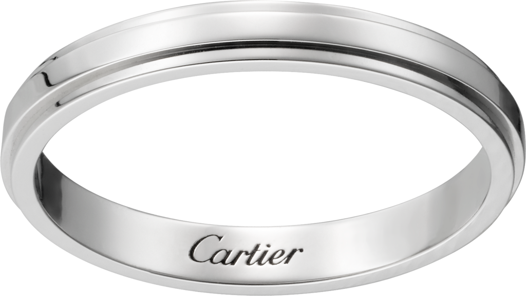 Cartier d'Amour wedding bandPlatinum