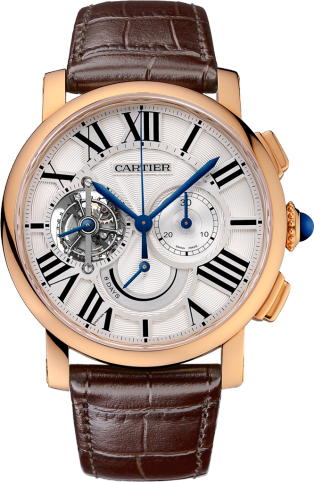 Rotonde de Cartier tourbillon watch, chronograph, 8-day power reserve