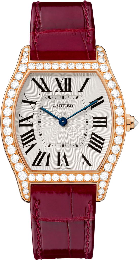 Tortue watchMedium model, 18K pink gold, diamonds