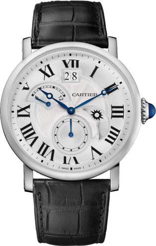 Rotonde de Cartier watch, Large Date, Retrograde Second Time Zone and Day Night Indicator