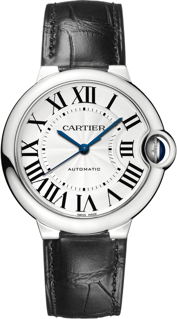 Ballon Bleu de Cartier watch36 mm, steel, leather
