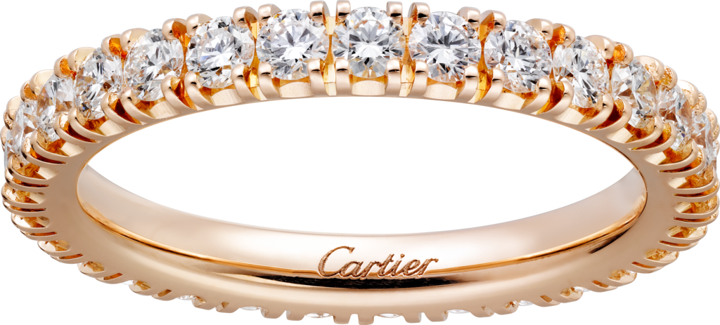 Cartier Destinée wedding bandPink gold, diamonds