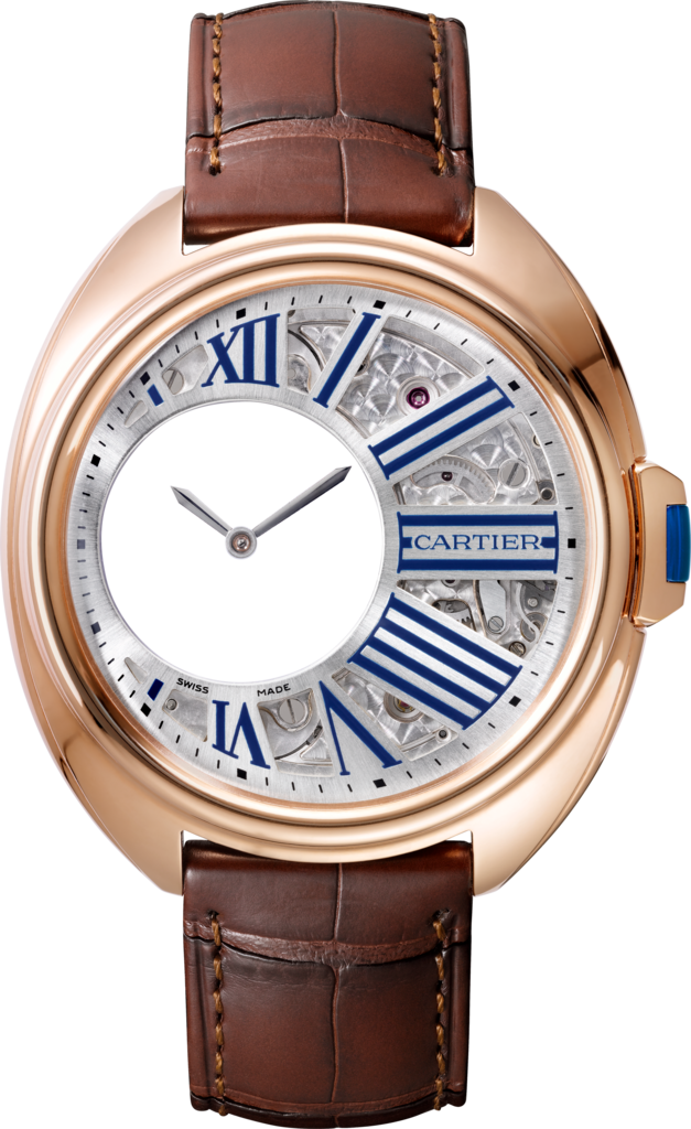 Clé de Cartier Mysterious Hour watch41 mm, manual, 18K pink gold