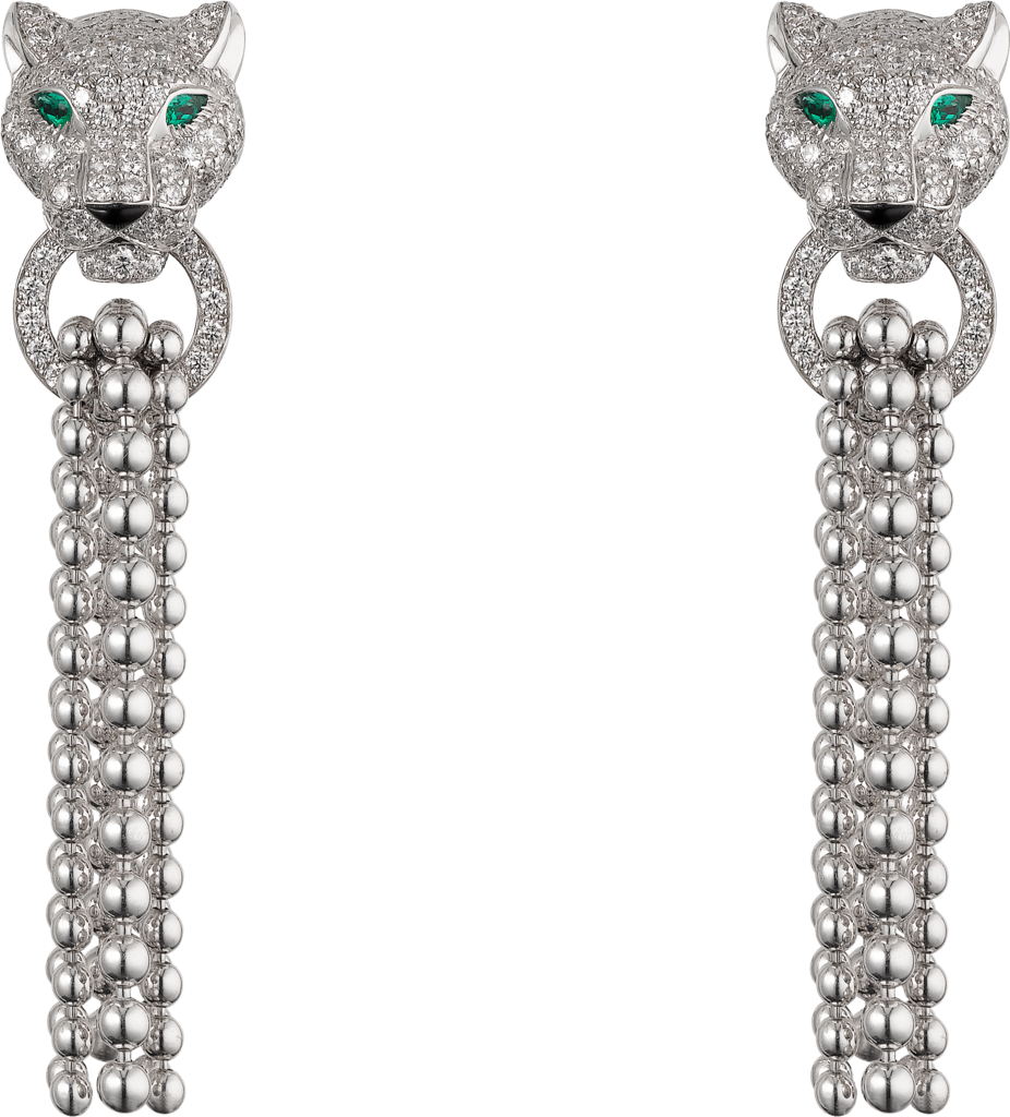 Panthère de Cartier earringsWhite gold, emeralds, diamonds, onyx