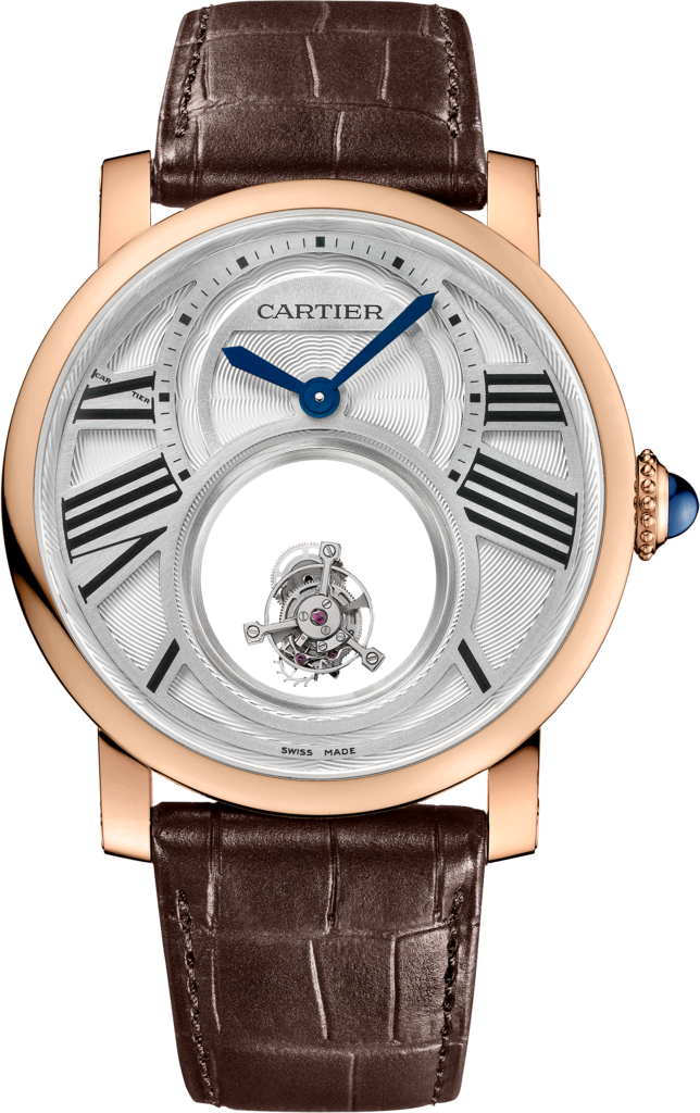 Rotonde de Cartier Mysterious Double Tourbillon watch45 mm, 18K pink gold