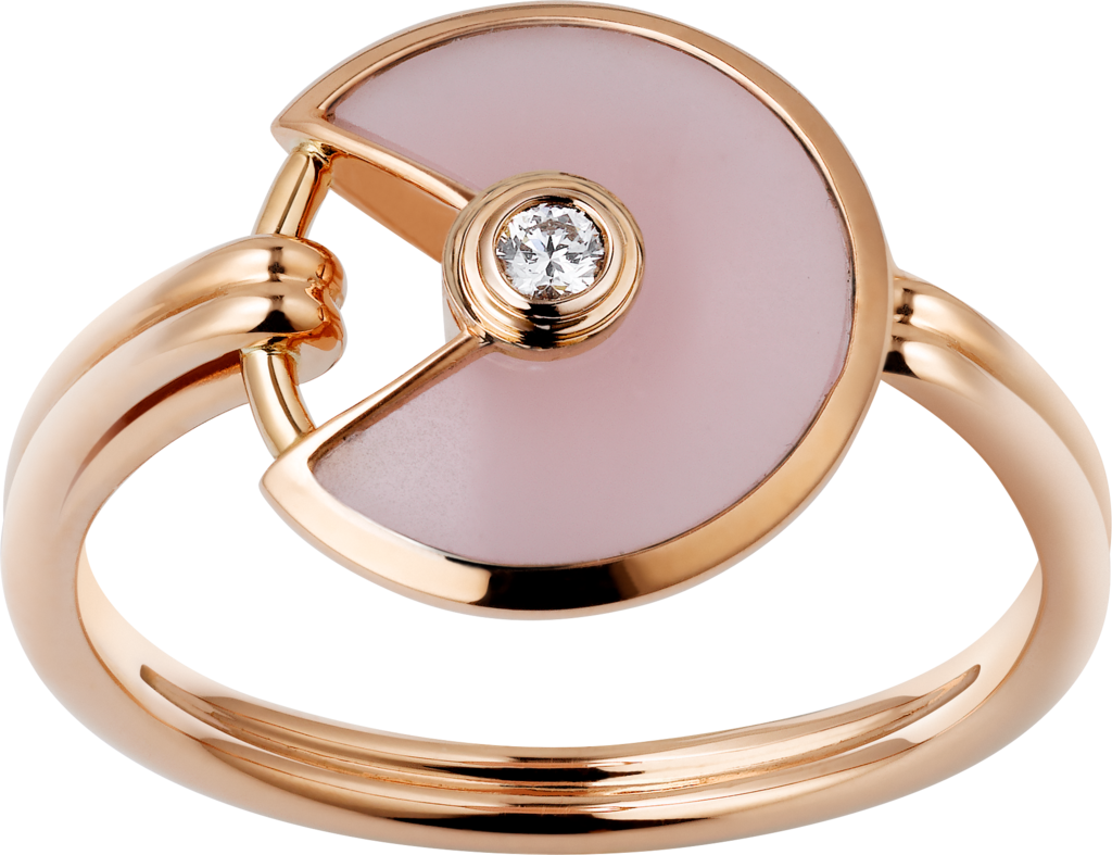 Amulette de Cartier ring, XS modelPink gold, pink opal, diamond