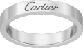 C de Cartier wedding band