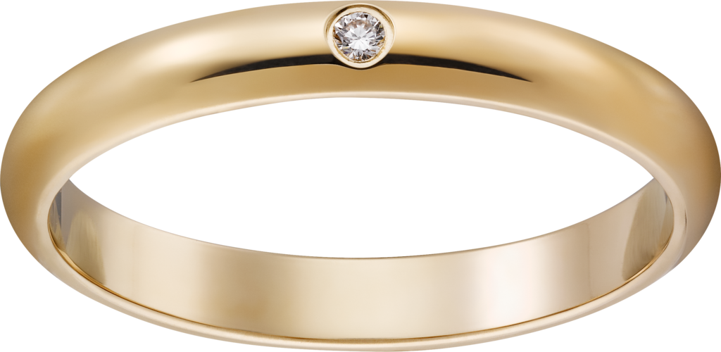 1895 wedding bandYellow gold, diamond